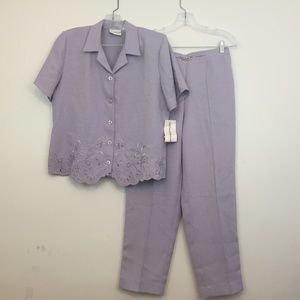 Alfred Dunner Women's Outfit Set Sz 8 Embroidered
